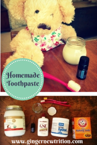 Homemade toothpaste image for pinterest